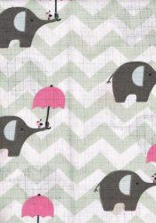 1db-os mintás pelenka - szürke elfi rózsaszín ernyővel