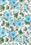 1db-os színes,mintás textil pelenka - kék virág
