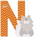 Sevi Fa betű állatos - N narancs