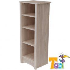 Todi Magic keskeny, nyitott polcos szekrény - szilfa