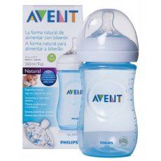 Avent Natural (innovatív,szirmos etetőcumi) 260 ml cumisüveg - Kék
