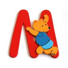 Fa betű M - piros maci
