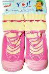 YO! Lány zoknicipő 24-es rózsaszín