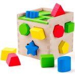 Fa formaválogató kocka