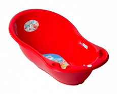 Autó mintás babakád 86 cm - piros